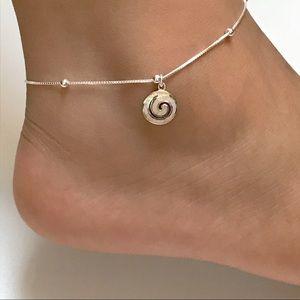 Jewelry - Sterling Silver Opal Swirl Anklet